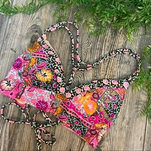xhilaration // boho paisley floral bikini top s